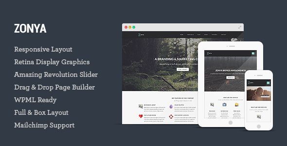 zonya - Zonya - Multipurpose Responsive WordPress Theme