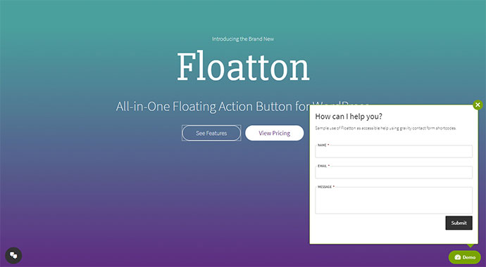 Floaton - Floatton | WordPress Floating Action Button with Pop-up Contents for Forms or any Custom Contents