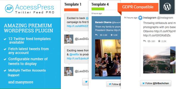 accesspress - AccessPress Twitter Feed Pro