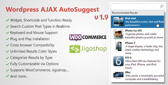 ajax - WordPress AJAX Search & AutoSuggest Plugin