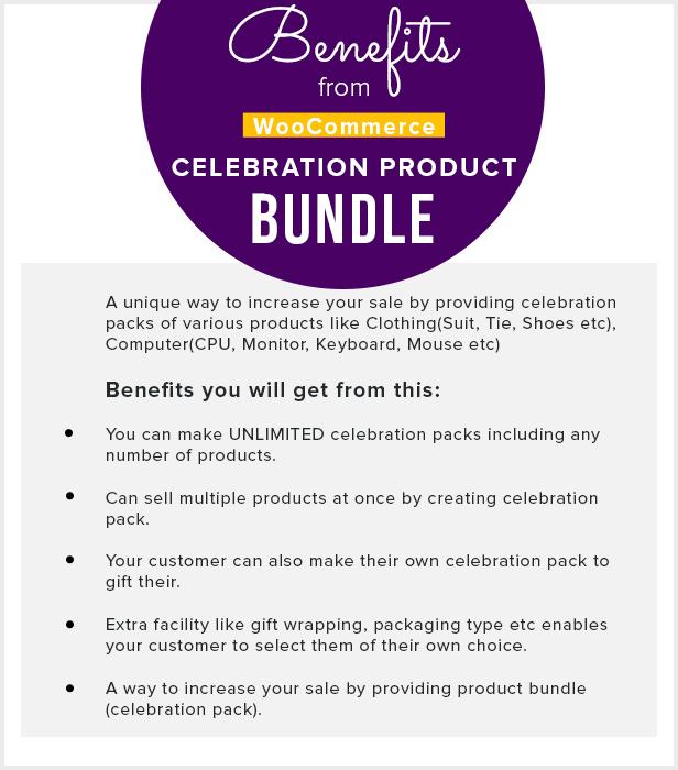 celebration4 - WooCommerce Product Bundle with Gift Pack