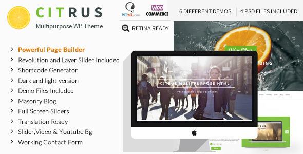 citrus - Citrus - One Page Multi-Purpose Theme