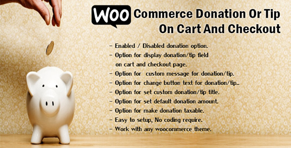 donation - WooCommerce Donation Or Tip On Cart And Checkout