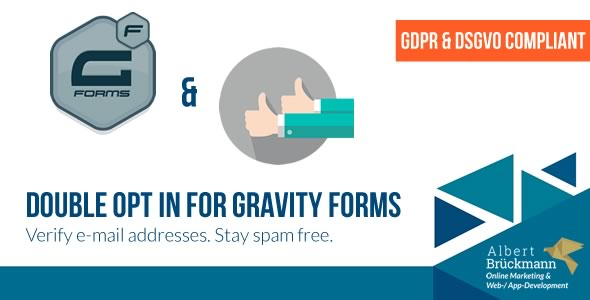 double - Double Opt in for Gravity Forms (GDPR & DSGVO compliant) - E-Mail Address Verification