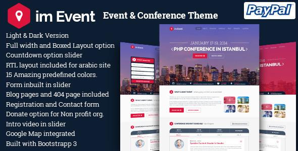 event - im Event - Event & Conference WordPress Theme
