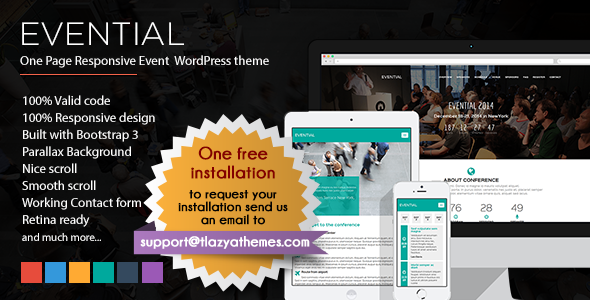 evential - Evential - One Page Responsive Event WordPress Theme