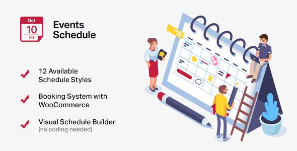 events - Events Schedule - WordPress Events Calendar Plugin