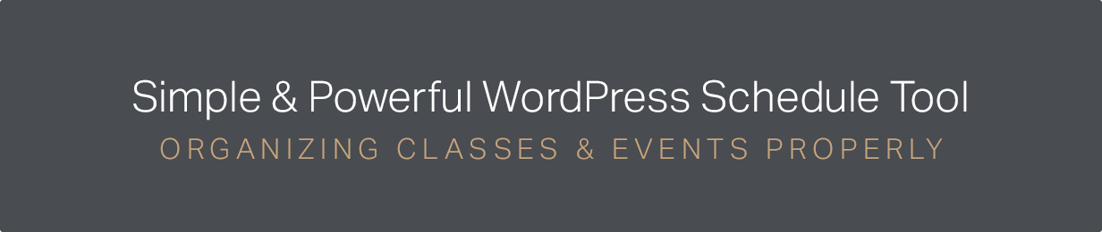 events4 - Events Schedule - WordPress Events Calendar Plugin