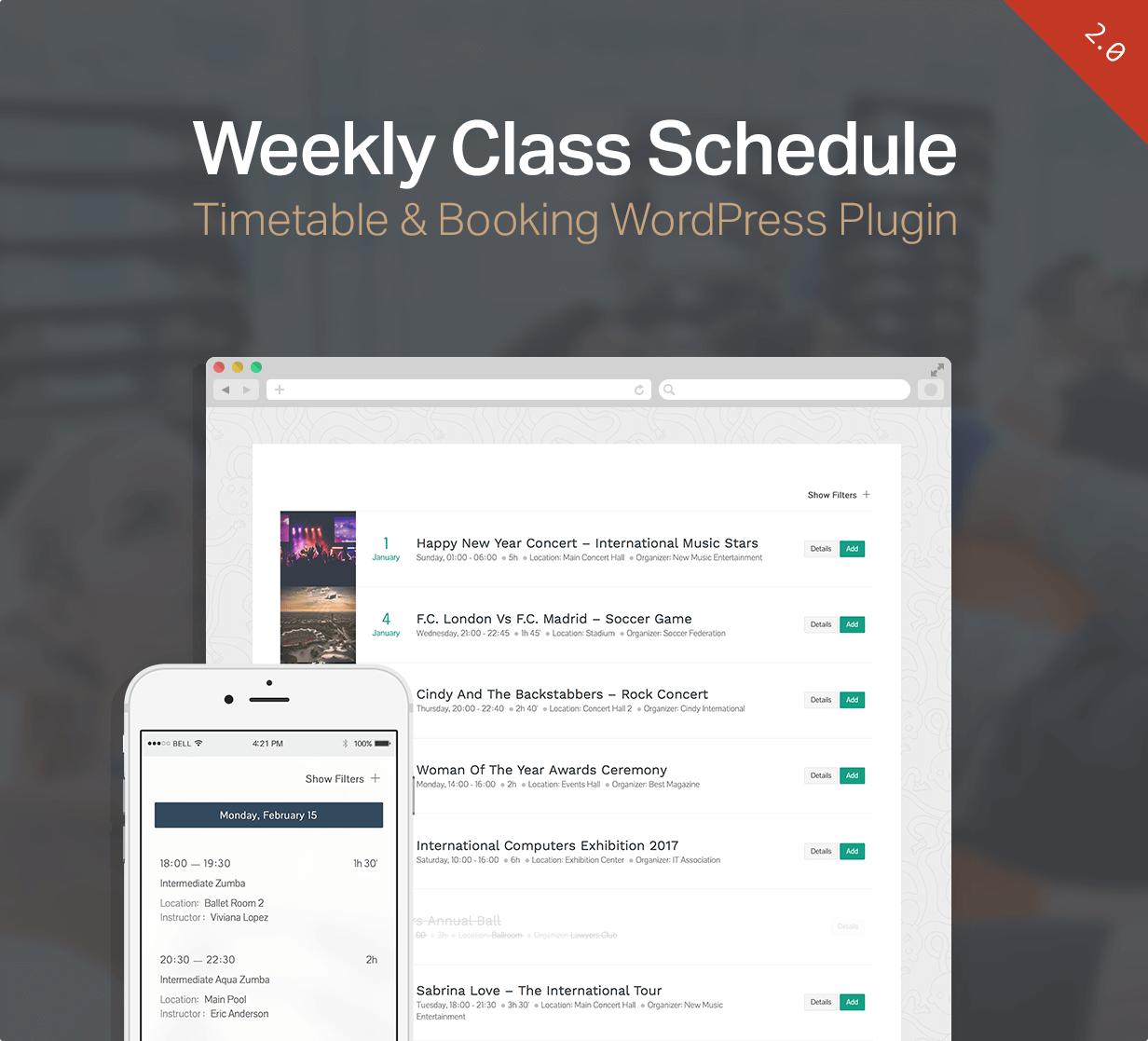 events6 - Events Schedule - WordPress Events Calendar Plugin