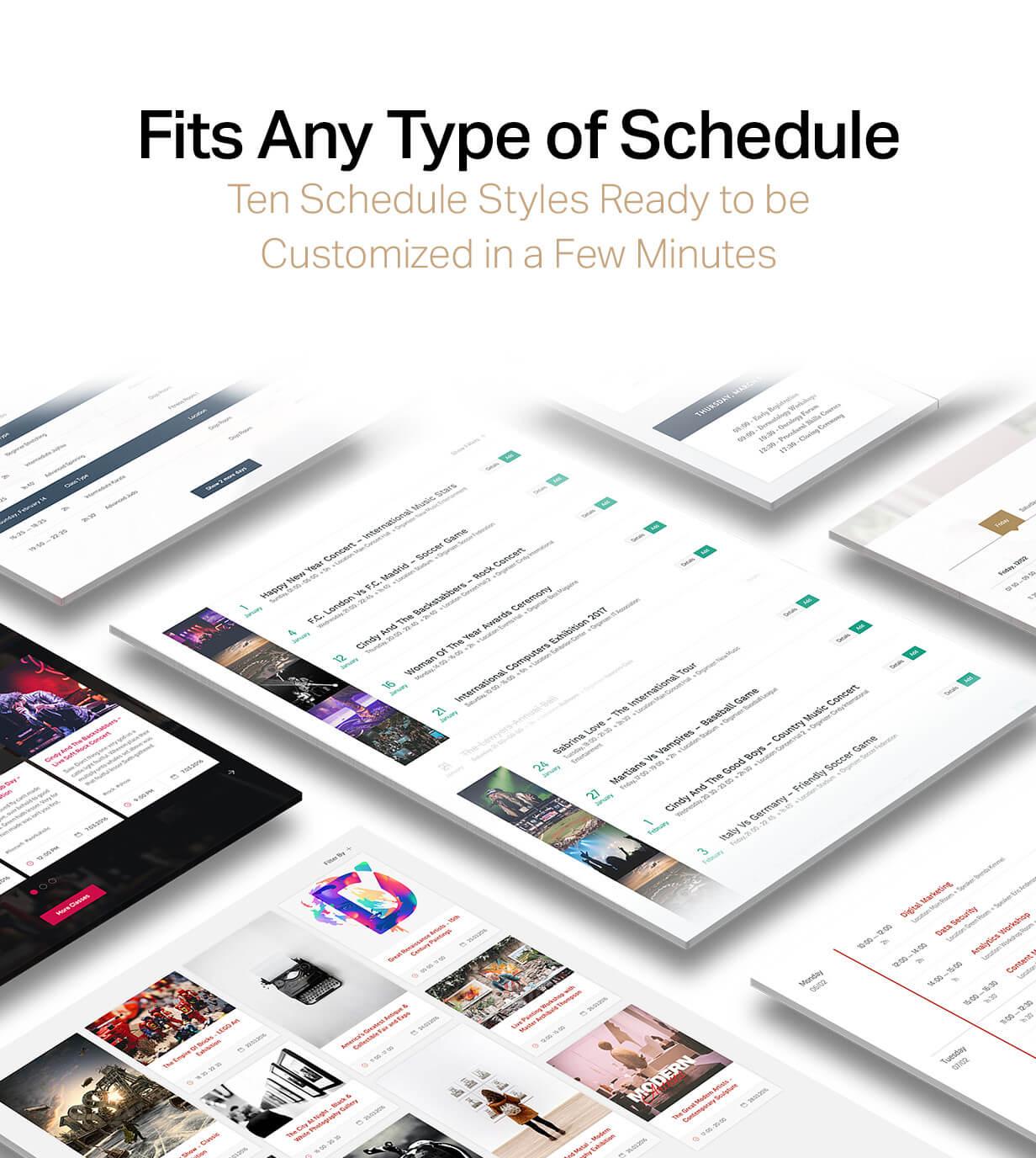 events8 - Events Schedule - WordPress Events Calendar Plugin