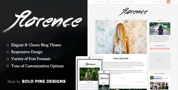 florence - Florence - A Responsive WordPress Blog Theme