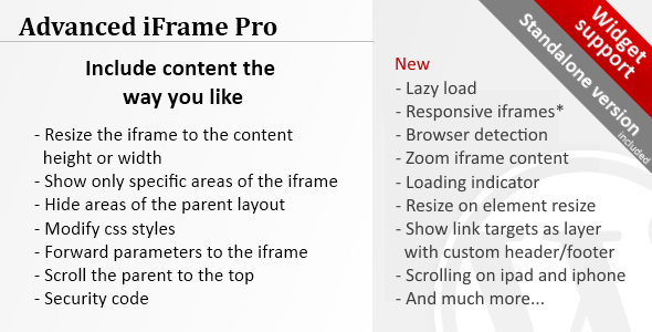 iframe - Advanced iFrame Pro
