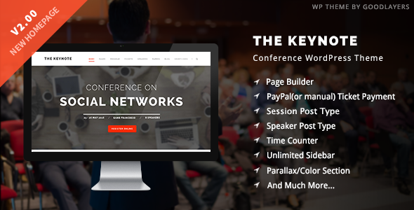 keynote - The Keynote - Conference / Event / Meeting WordPress Theme