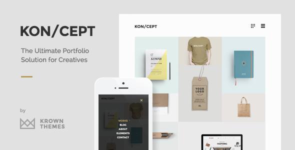koncept - KON/CEPT - A Portfolio Theme for Creative People