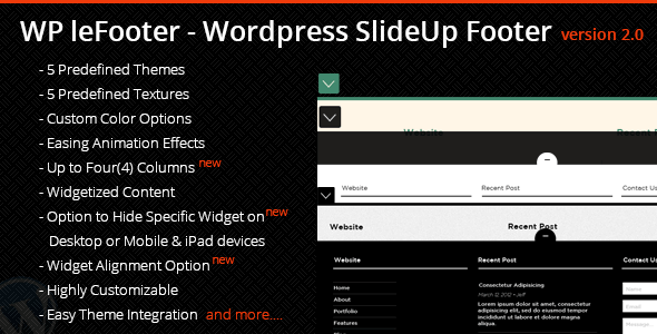 lefooter - WP leFooter - WordPress SlideUp Footer Plugin