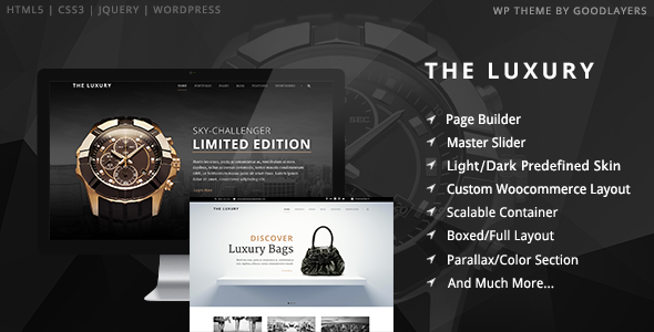 luxury - The Luxury - Dark/Light Responsive WordPress Theme