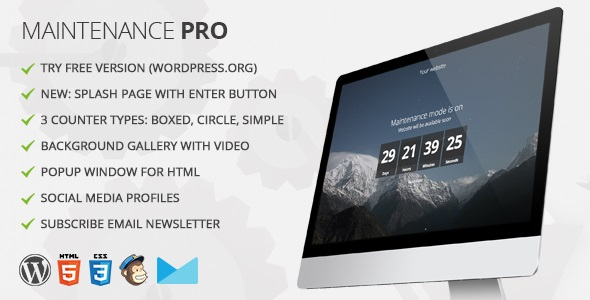 maintenance - Maintenance PRO - WordPress plugin