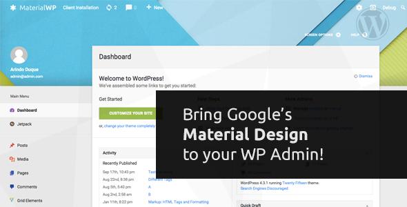 material - Material WP - Material Design Dashboard Theme