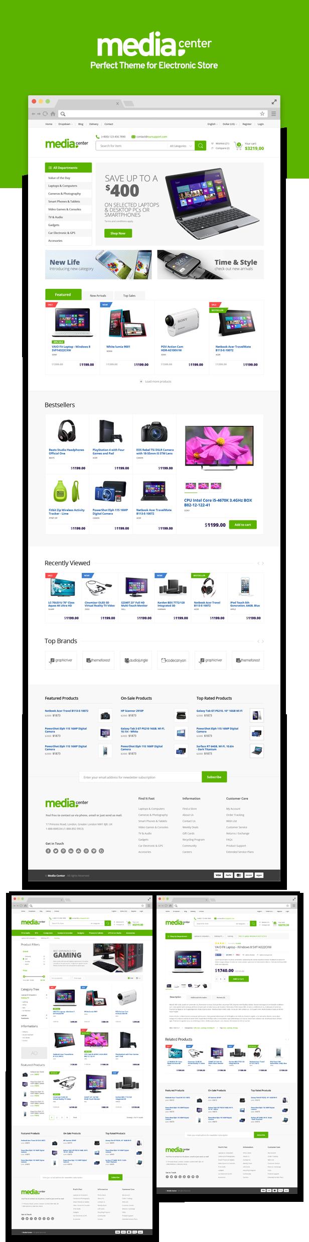 mediacenter5 - MediaCenter - Electronics Store WooCommerce Theme