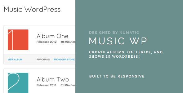 music - Music Wordpress Template - For Musicians / Artists