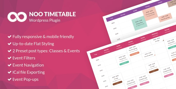 noo - Noo Timetable - Responsive Calendar & Auto Sync WordPress Plugin