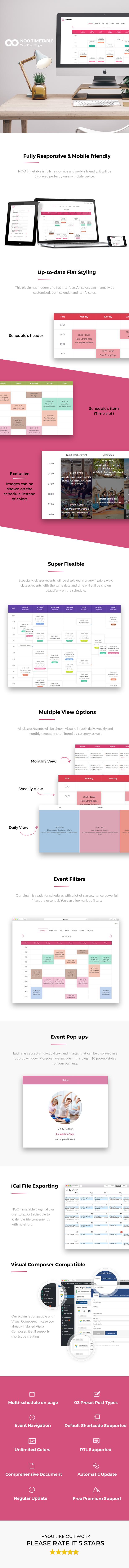 noo4 - Noo Timetable - Responsive Calendar & Auto Sync WordPress Plugin
