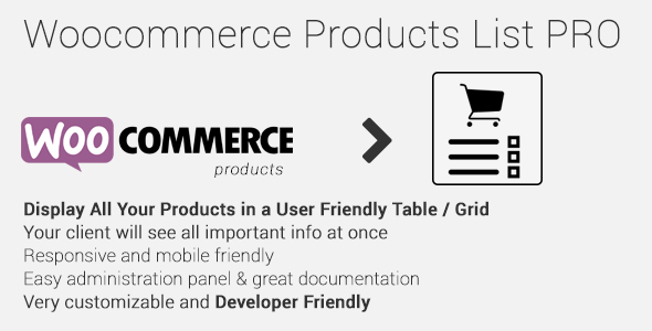 products - Woocommerce Products List Pro