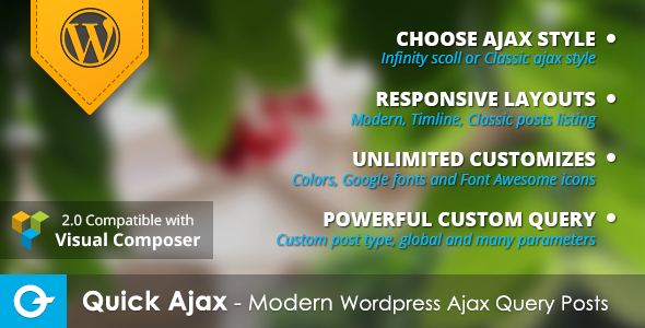 quick - Quick Ajax - Modern Wordpress Ajax Query Posts
