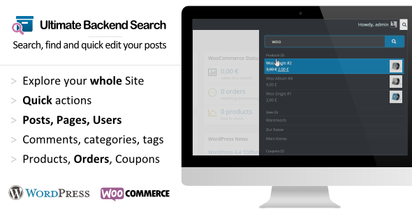 real - WordPress Real Dashboard Search - AJAX backend search