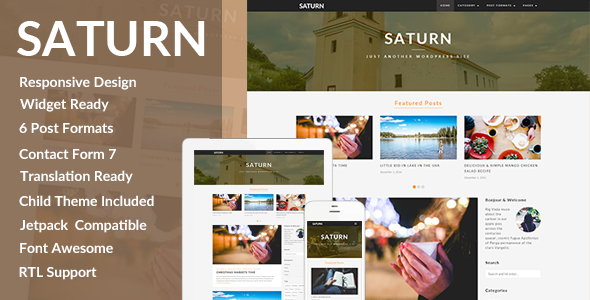 saturn - SATURN - A Personal/Travel Wordpress Blog Theme