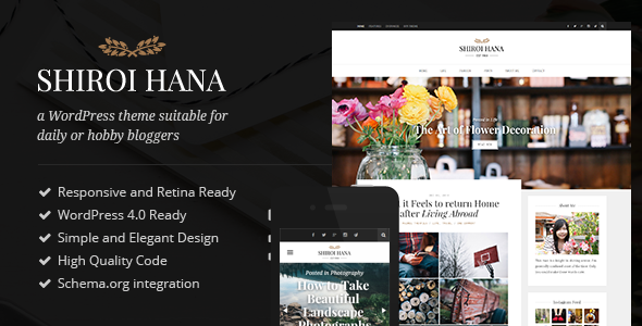 shiroi - Shiroi Hana - An Elegant Blogging Theme