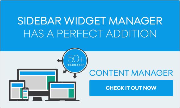sidebar5 - Sidebar & Widget Manager for WordPress