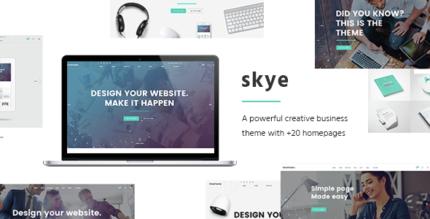 skye 430x219 - Skye - A Contemporary Theme for Creative Business