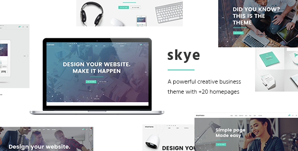 skye - Skye - A Contemporary Theme for Creative Business