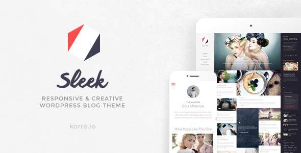 sleek - Sleek | Responsive & Creative WordPress Blog Theme