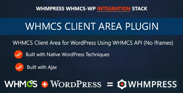 whmcs - WHMCS Client Area for WordPress by WHMpress