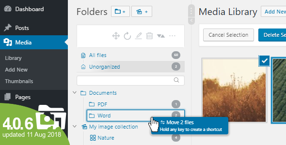 wordpress - WordPress Real Media Library - Media Categories / Folders File Manager