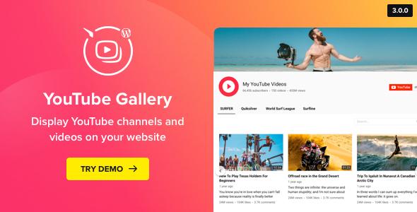 youtube - YouTube Plugin – WordPress YouTube Gallery