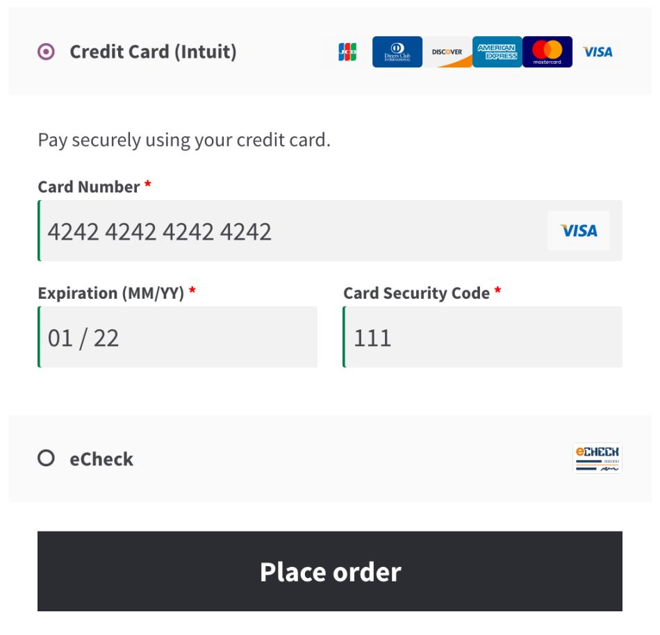 Форма кредитной карты
