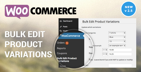 Bulk - Woocommerce Bulk Edit Variable Products & Prices