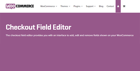 Checkout 1 - Checkout Field Editor