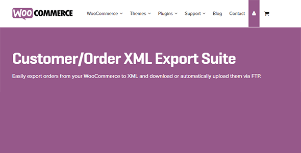 Customer - WooCommerce Customer / Order XML Export Suite