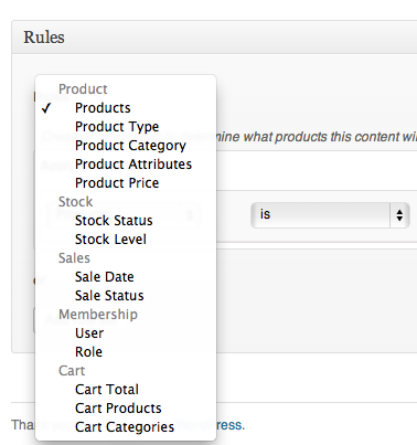 Screen Shot 2013 05 24 at 9.52.12 PM - WooCommerce Conditional Content