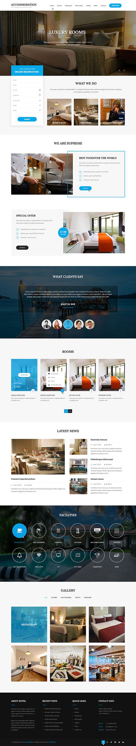accommodation wordpress theme1 - Accommodation