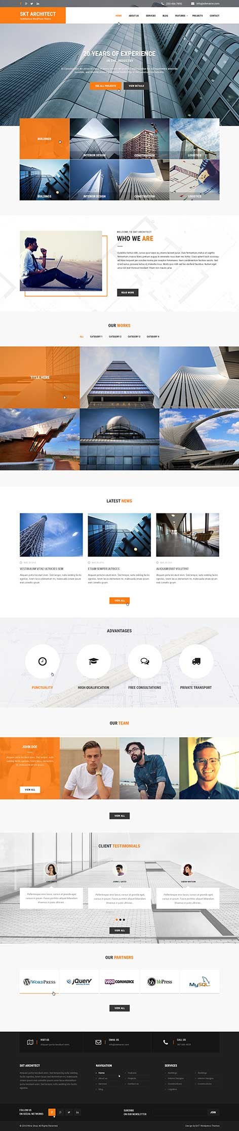 architect wordpress theme1 - Architect