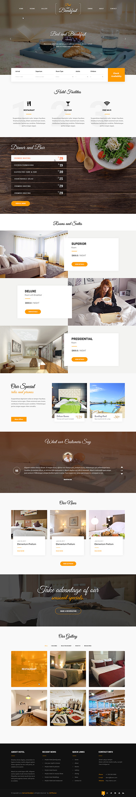 bed and breakfast wordpress theme1 - Bed and breakfast