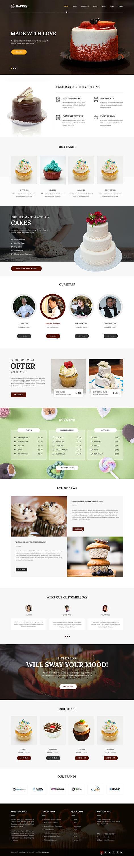 cakery wordpress theme1 - Bakers
