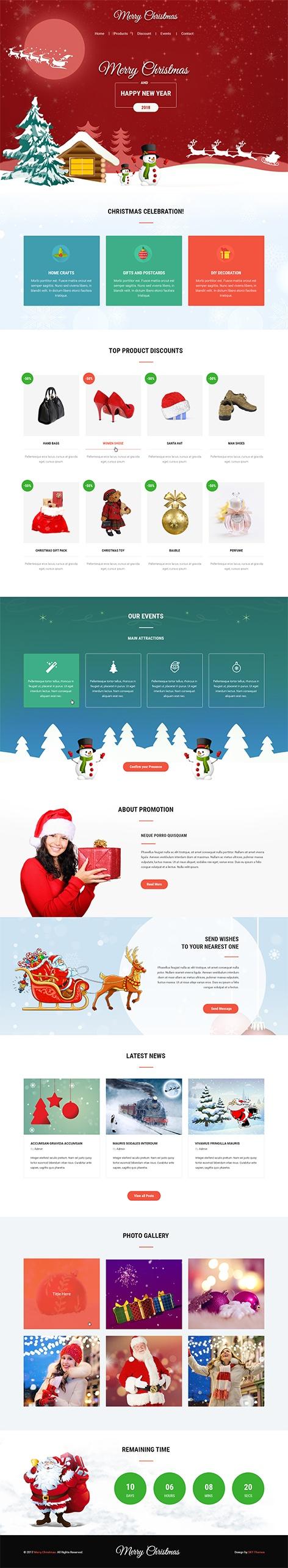 christmas wordpress theme1 - Christmas