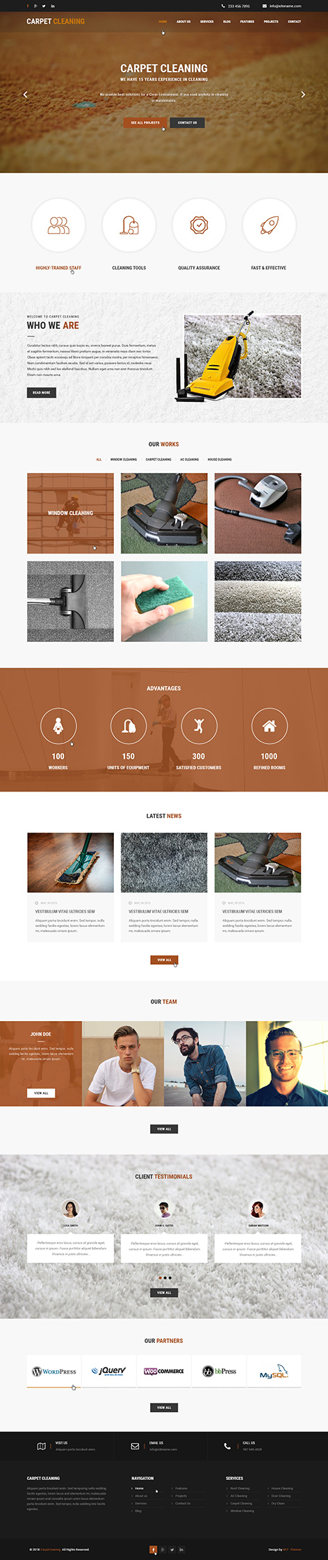 cleaning company wordpress theme1 - Cleaning Company