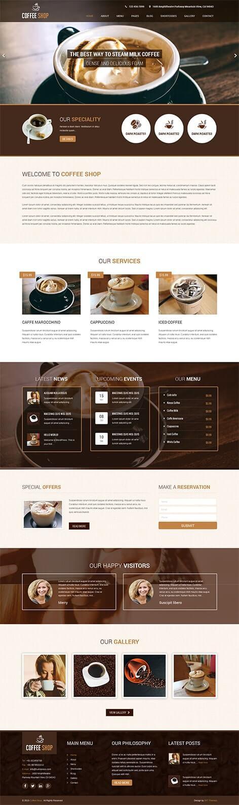 coffee wordpress theme 1 - Coffee